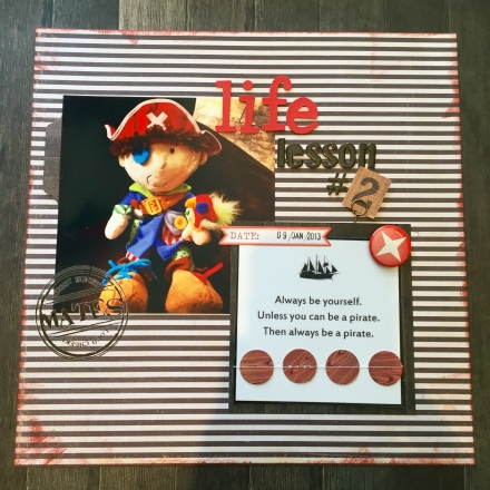 Life Lessons in a Scrapbook – Lesson #2